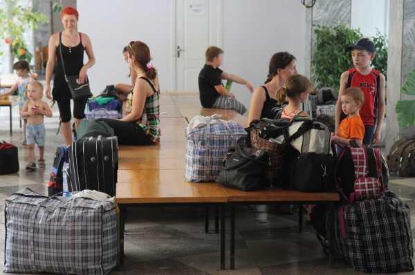 Лагерь для беженцев с Юго-Востока Украины
