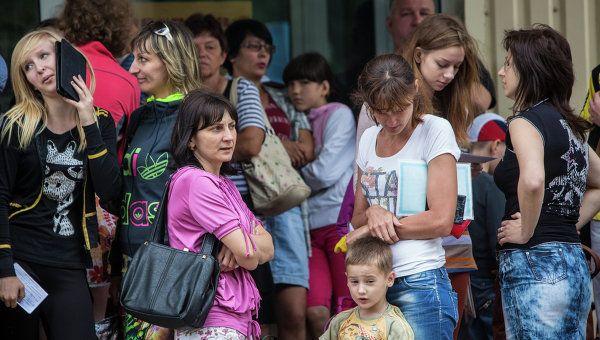 Размещение прибывших из Украины граждан в Курской области.