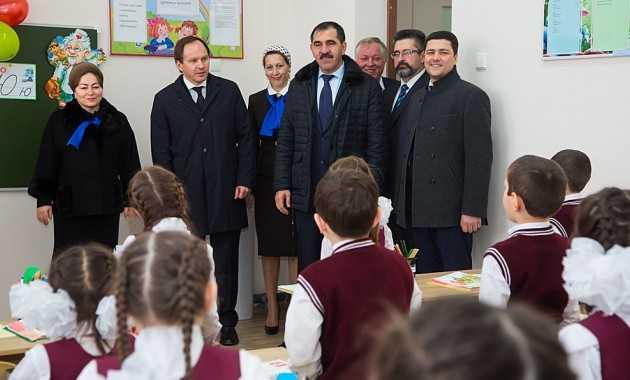 В с.п. Троицкое Ингушетии открыли современную школу