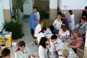 День борьбы против рака в ЧУЗ «Медико-санитарная часть» ООО «Газпром добыча Астрахань» 8 сентября 2017г.