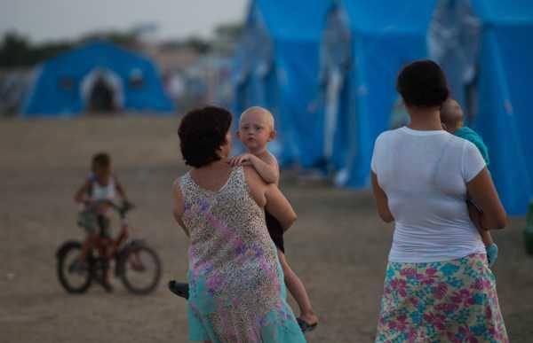 Лагерь беженцев с Украины в Севастополе
