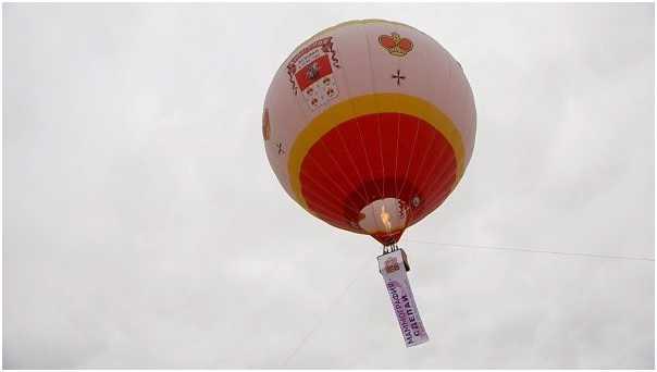 Огромный воздушный шар подняли в небо в Дмитрове 30 августа 2017 в поддержку Акции