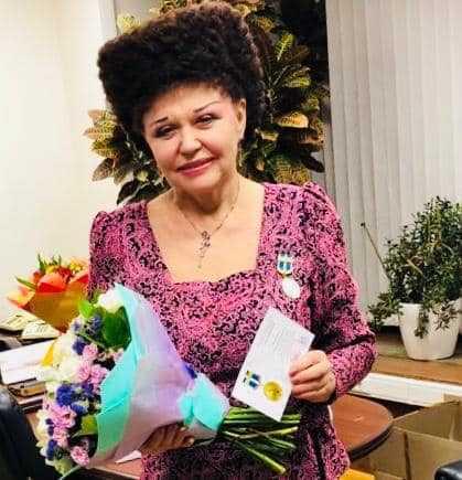 Валентина Петренко Награждена медалью «за вклад в укрепление правопорядка»