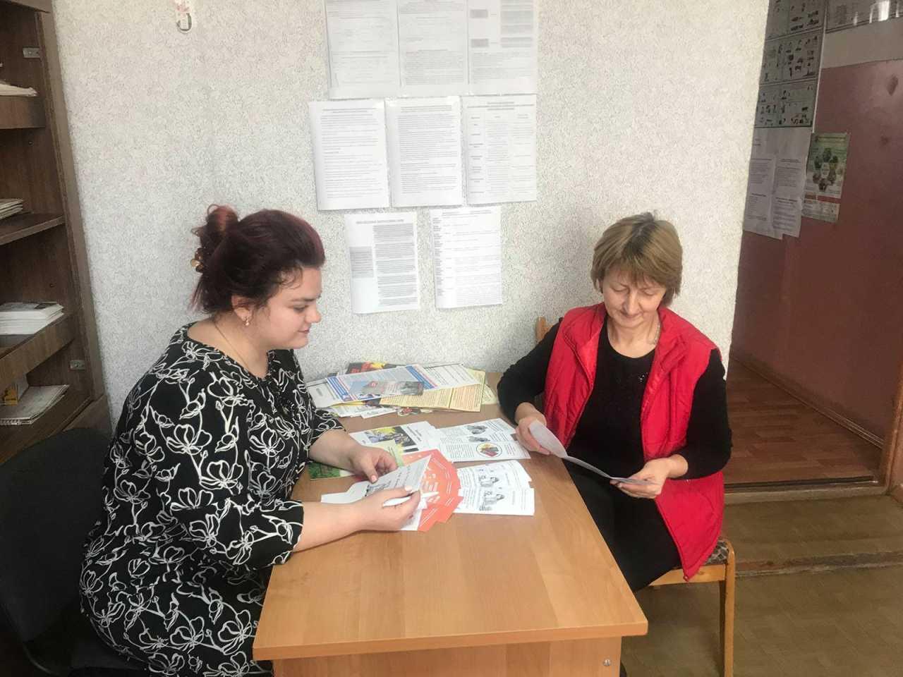 Выездной прием граждан в рамках акции «Социальный поезд «Забота»  в селе Пружинки